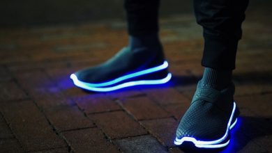 Photo of MSU student running at full speed with footwear startup | Crain's Detroit Business